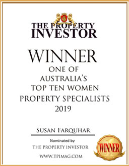 Winner one of Australia's Top Ten Women Property Specialists